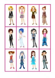 English Worksheets: Flashcards Clothes2