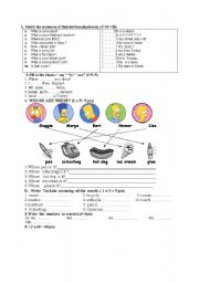 English Worksheet: revision of   beginner grammar