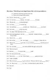 Worksheet Writing Dialogue Worksheet present simple practice dialogue