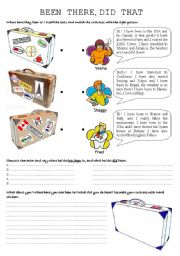 English Worksheets: travel suitcases