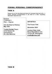 English Worksheets: cover letter tasks