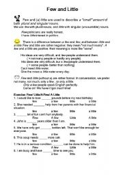 English Worksheets: fee nd little