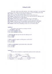 English worksheet: Setting the table