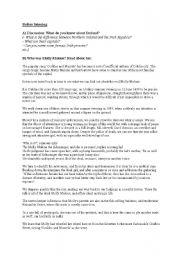 English Worksheet: Molly Malone - Before Listening I
