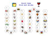 English Worksheet: Board game food and drink
