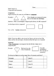 English Worksheets: Congruence and Symmetry