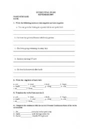 English worksheets for 12 year olds