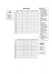 photograph about Battleship Game Printable titled Battleship Video game - ESL worksheet by way of _babz
