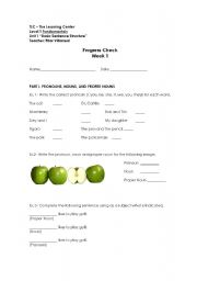 English Worksheets: Progress Check Unit 1