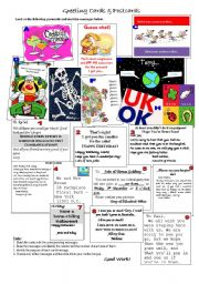 English Worksheet: Greetings & Postcards
