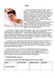 English Worksheets: Enrique Iglesias