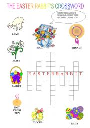 English Worksheet: The Easter rabbit�s crossword