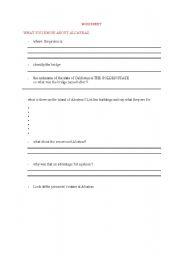 English Worksheets: ALCATRAZ 2