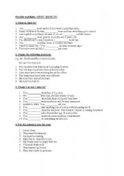 English Worksheet: Must and have to