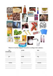 English Worksheets: young learners can group the items given in the picts to make them countable