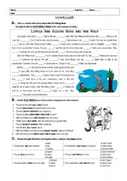 English Worksheet: Little Red Riding Hood