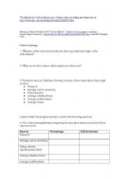 Worksheets Carbon Footprint Worksheet carbon footprint worksheet for students intrepidpath english teaching worksheets other listening