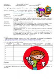 English Worksheet: SCHOOL MAGAZINE PROJECT 1