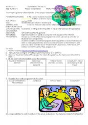 English Worksheet: RADIO PROGRAMME PROJECT 1
