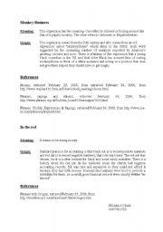 English Worksheets: monkey business