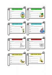 English Worksheets: Awards