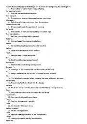 Rewrite sentences: grammar review