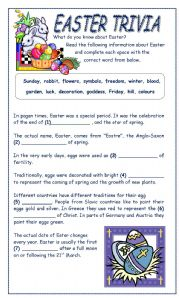 It is an image of Punchy Easter Trivia Questions and Answers Printable