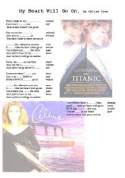 Titanic love theme worksheet
