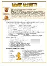 English Worksheet: Movie Activity - Garfield II