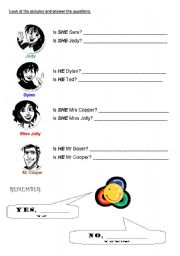 English Worksheets: Yes/No questions verb TO BE