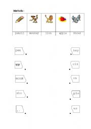 English Worksheets: match