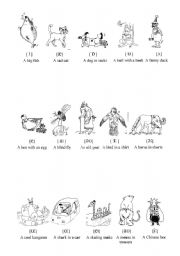 English Worksheets: Animals - Funny phonetics
