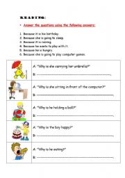 English Worksheets: Why Questions