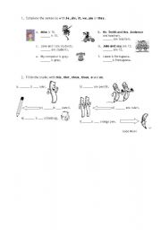 English Worksheets:  Part II - Personal identification