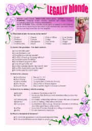 English Worksheet: Legally Blonde (2001) - Movie Activity