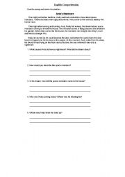 English Worksheets: Andy�s Nightmare