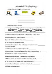 English Worksheets: MATERIALS & EVERYDAY THINGS