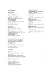 English Worksheets: FAR AWAY : SUNG BY NICKELBACK