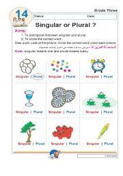 English Worksheets: singular or plural