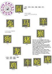 English Worksheets: zodiac
