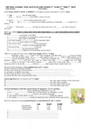 English Worksheet: 9th grade 2.term 1.quiz