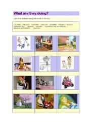 English Worksheets: Actions