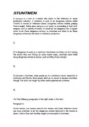 English Worksheets: stuntmen