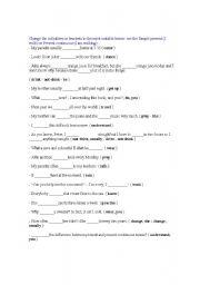 English Worksheets: first worksheet
