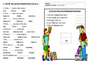 English Worksheets: structure