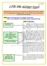 English Worksheet: ARGUMENTATIVE ESSAY