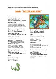 English Worksheets: TARZAN AND JANE