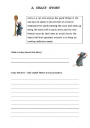 English Worksheets: A crazy story - Ratatouille