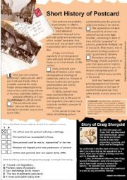 English Worksheet: Postcards II.