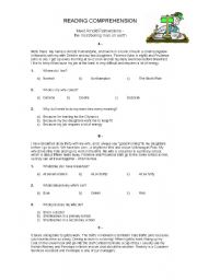 English Worksheets: Reading Comprehension (The Banker)